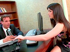 Office babe Ashlyn Rae sucks boss'd wiener