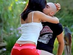 hungry wow babe fucking in a forest