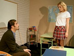A Cute But Naughty Student Gets Taught A Lesson