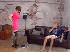 Big Tittied Japanese Gal Anri Okita Pleasing a Guy with Her Hairy Twat