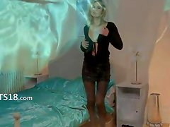 Blonde hooker with unbelievable lingerie