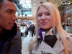 Blonde Euro Amateur Girl in a Sex Adventure in a Cafe