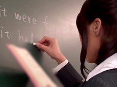 Hot Japanese Teacher in Pantyhose Haruka Sanada Fucked by Student