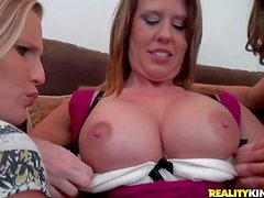 Brianna Ray, Kristen Cameron and Grace are hot bodied milfs