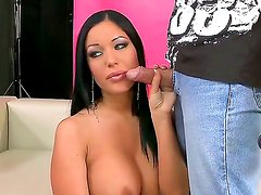 Curvaceous black haired sex goddess Angelica Heart returns with new hot ideas and fresh passion