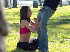 Amy Brooke is getting dick in her face