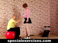 Slave girl trained by coach