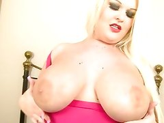 Big buxom blonde fucks black cock
