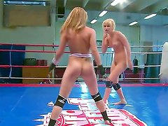 Hardcore nude fight with crazy wild cougars Aleska Diamond and Celine Doll