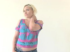 Nervous Blonde Inseminated at her Calendar Audition