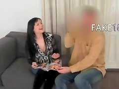 Fake agent having fuck with tits girl