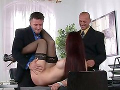 Amazing Mira pleases her boss in wild and nasty hardcore office fuck scene