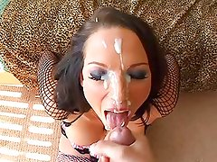 She Looks Amazing With Lots Of Cum On Her Face