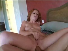 Redhead hardcore sex in the bedroom