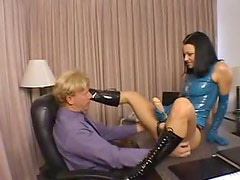 Belladonna sexy strapon and latex scene