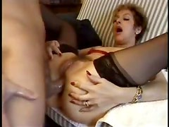 Hairy mature pussy and asshole fucked