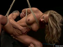 Incredibly Rough Hardcore Fuck for a Tied Up Blonde Chick
