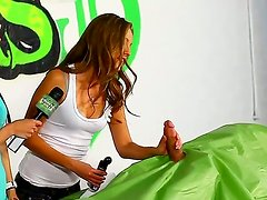 Extreme fucking seduciton seminar from two naughty sweet whores with short cucumber practice!
