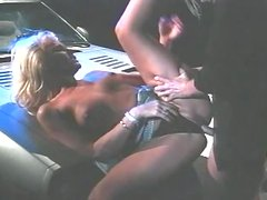 Retro style fucking with two sizzling blondies