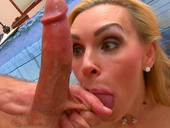 Bill Bailey penetrates mouth of Tanya Tate