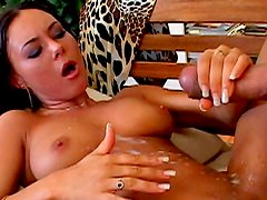 Sensual lady Valentina Velasques is making a blowjob