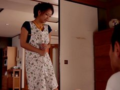 Fetiche - Japanese Housewife Doing House Work With A Vibe Up Her Snatch.