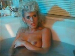 Retro bathing beauty joins him in bed for sex