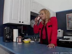 Hardcore Banging for Blonde MILF Ami Charms in Black Lingerie