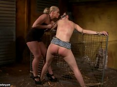 Torture in Kathia's basement till her ass turns red