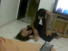 Wrestling: 2 Brazilian Legal Age Teenager Babes