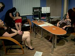 Office Of Humiliation With Fat Whores Getting Dominated
