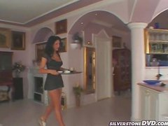 Susanne the lovely brunette get assfucked in the kitchen