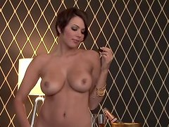 Sara Stokes the beautiful brunette shows her boobs and pussy