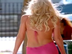 Outdoor solo action with a kinky blond babe Christi Shake