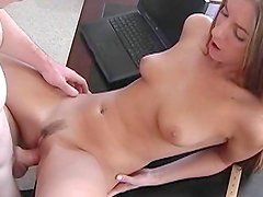 Cheerleader Veronica Stone is sucking sweet cock