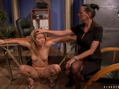 The hottest fetish action in the office with Mandy and Salome