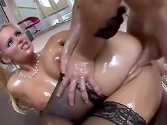 Phoenix Marie all lubed up and fucked hard