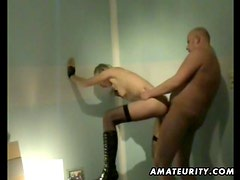 Sexy blonde ex girlfriend home fucking with cumshot on her pussy