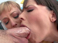 Adrianna Nicole and Dana Dearmond are two naked porn divas