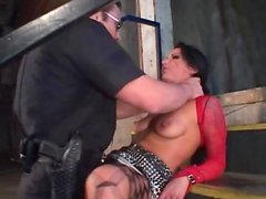 Face fucking a dirty whore with small tits