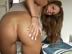 Hot GF bent over and fucked Doggystyle in bed