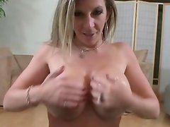 Busty dirty slut toying tits