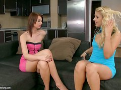 An Amazing Lesbian Scene With Brandy And Leyla