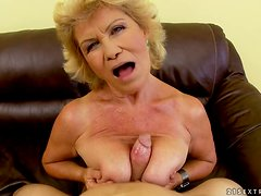Effie gets her hairy old pussy toyed and pounded hard