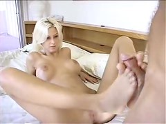Fucking and foot play with a sexy blonde