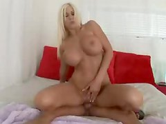 Blonde bimbo titjob and hardcore fuck