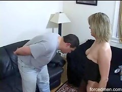 Milf kicks him in the balls