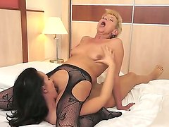Horny Wild Devil is having a filthy and racy pussy licking session with hot granny Autumn Leaf