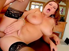 Sara Stone in glasses craves a big cock