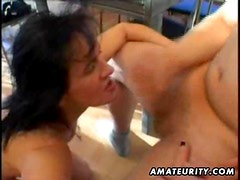 Mature amateur wife homemade suck and fuck with facial cumshot